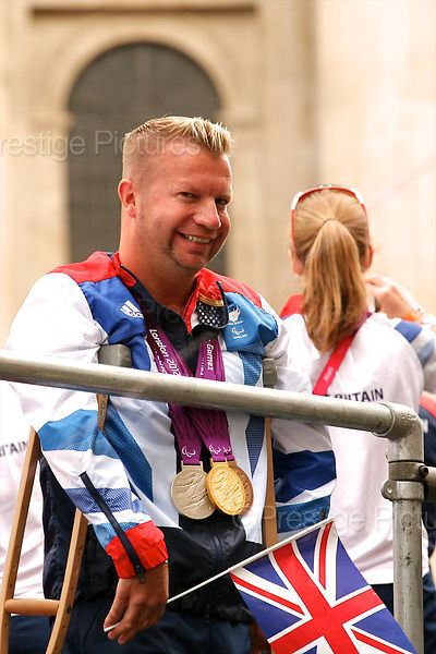 Paralympic Equestrian Champion Lee Pearson in the London 2012 Athletes Victory Parade