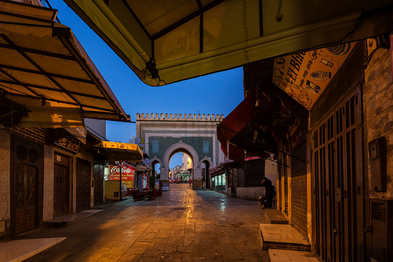 The Bab Bou Jeloud Gate at Dawn