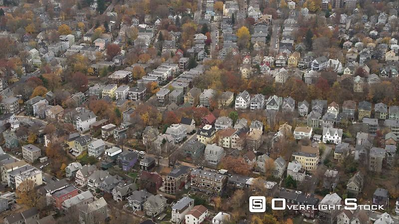 Residential Area in Boston's South End. Shot in November