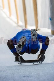 Wing Commander Andy Green during the Interservices Championships at The Cresta Run in St.Moritz