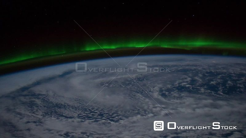 Time-Lapse from ISS over  Canada Europe Exp29 Aurora Borealis 11 Dec 2011