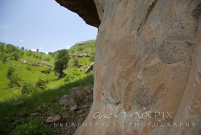 The leopard bushman rock painting