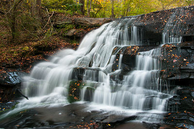 NoName Waterfall with Autumn Leafs