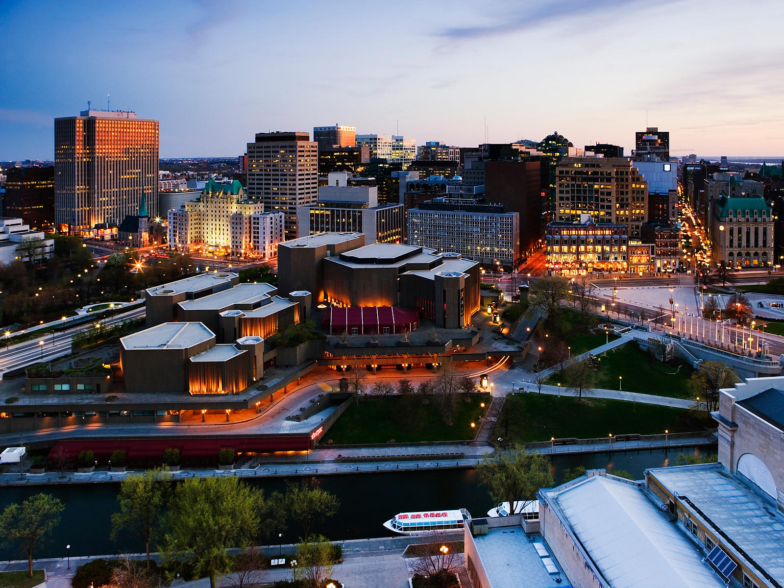 National Arts Centre and Skyline, Ottawa, Ontario, Canada