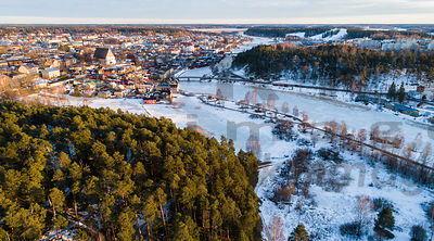Castle hill and town  of Porvoo