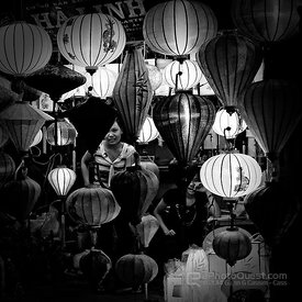 Lantern Shopping at Night