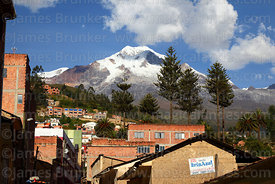 View of Mt Illampu from Sorata, Bolivia