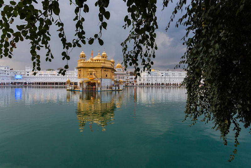The Golden Temple and the Sacred Pool at Dusk