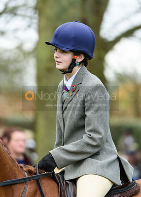Lizzie Westropp-Law at the meet. The Belvoir Hunt at Buckminster 21/2