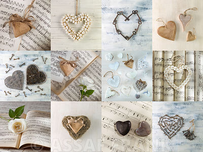 Collections of Hearts in a Collage