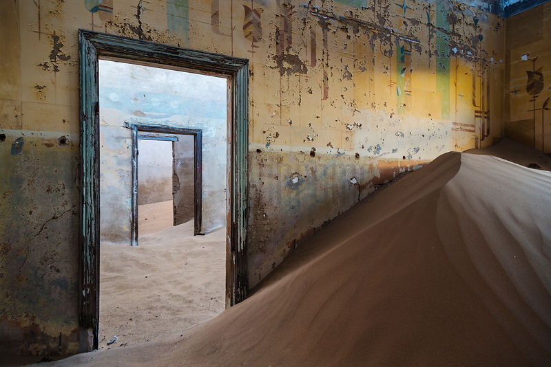 Drifting Sand in Abandoned Building
