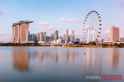 Singapore skyline at sunset, Singapore