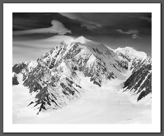 The East Ridge of Mt. Logan Black and White Print