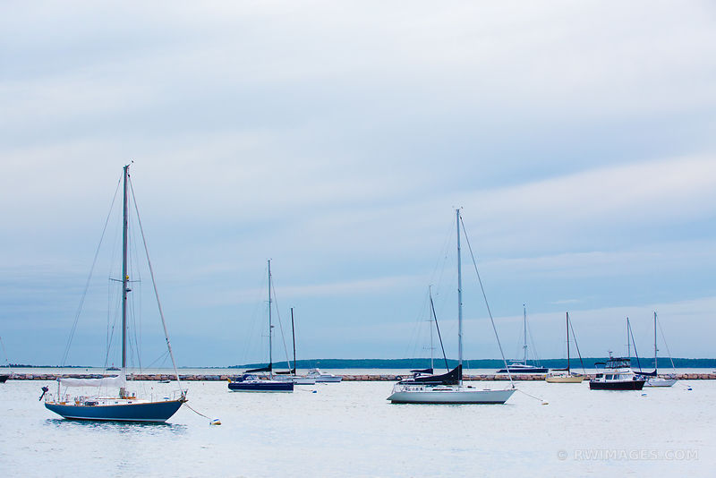 SAILBOATS SAG HARBOR LONG ISLAND NY EVENING