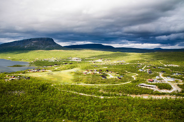 Kilpisjärvi village in the border of Finland, Norway and Sweden in the Northern Lapland