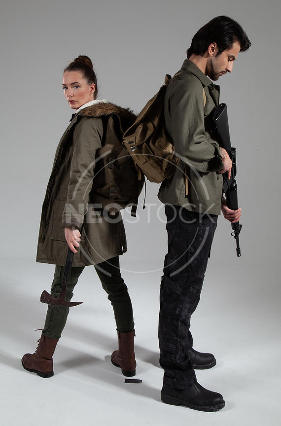 Post Apoc Duo Stock Photography