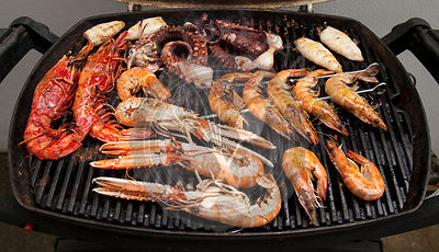 Seafood on a BBQ