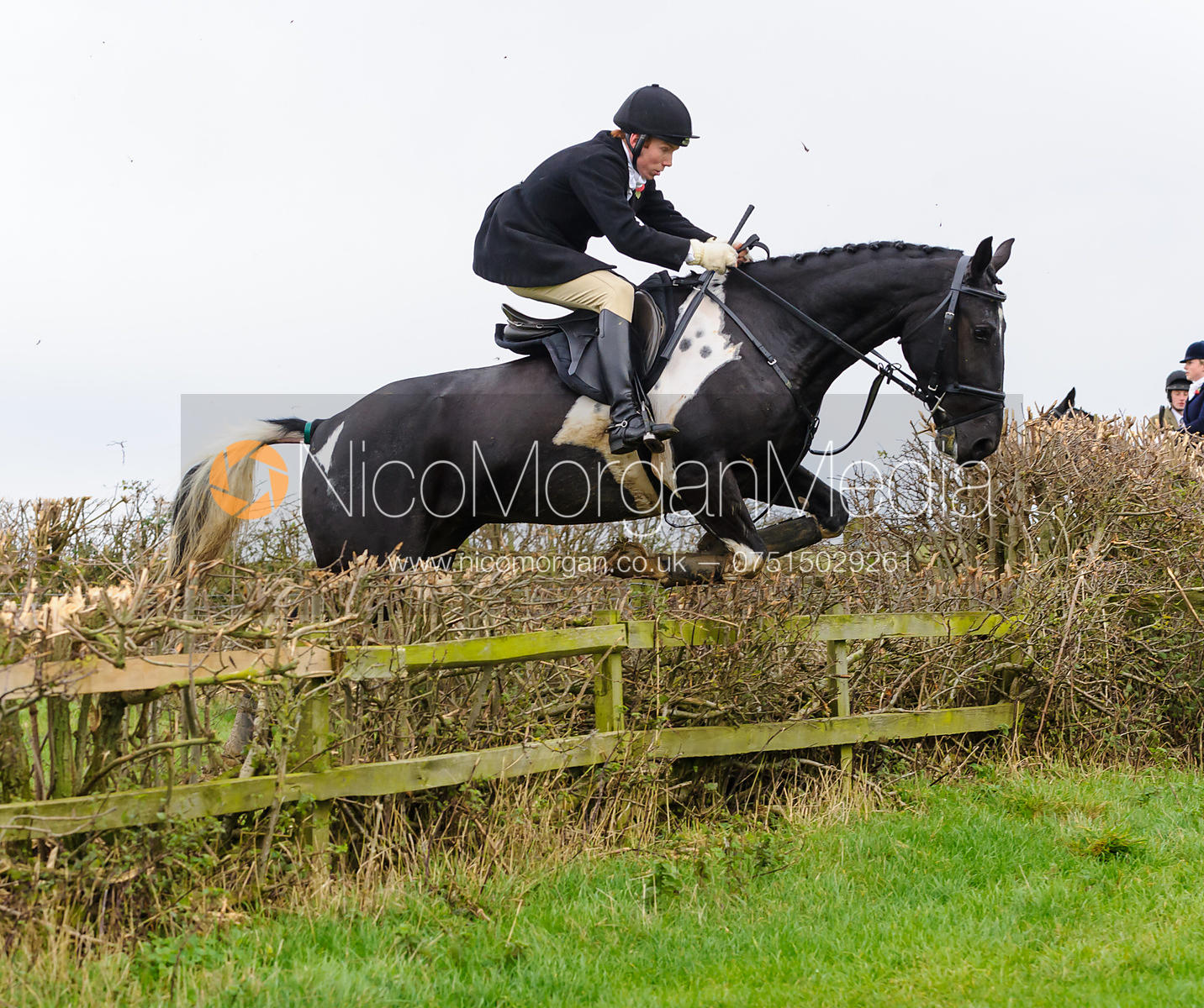 James Duncan jumping at Stone Lodge Farm - The Cottesmore Hunt at Tilton on the Hill, 9-11-13
