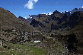 View of village of Canisaya , Cordillera Apolobamba , Bolivia