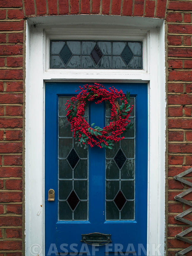 Christmas wreath on a door