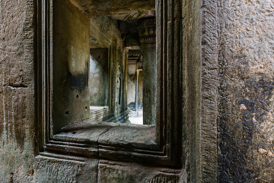 Windows and Doorways in Ruined Temple