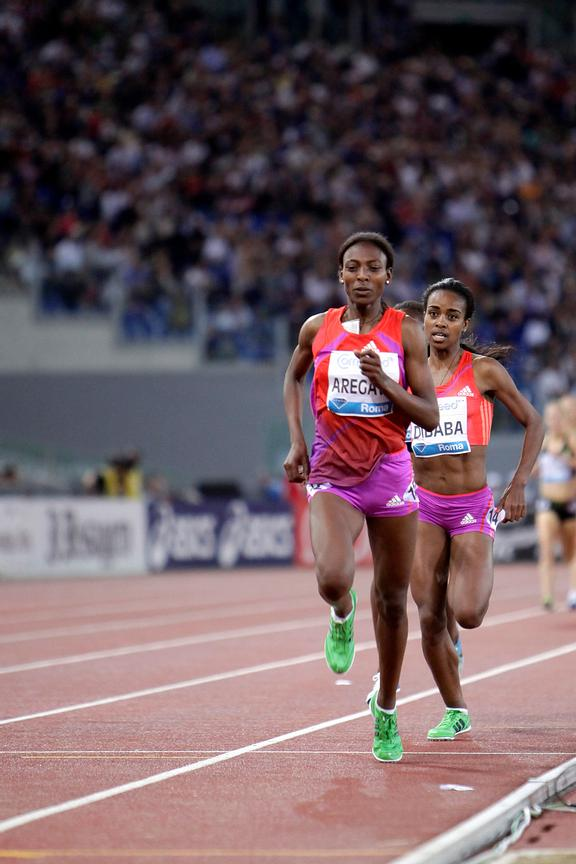 2012 Rome Golden Gala - Rome Diamond League 1500m womens Abeba Arigawe ETH..3:56.54