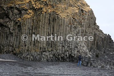 Basalt columns at Reynisfjara Beach, near Vik