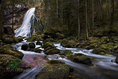 Austria, Golling, Waterfall