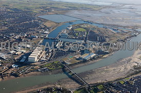 Barrow in Furness Docklands and BAE Systems ship yard Lancashire