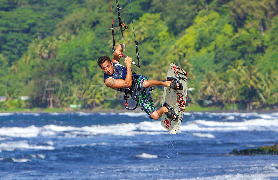 Kite-surfer in Tahiti