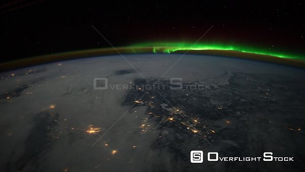 Time-Lapse from ISS over  Canada Aurora Borealis 02 Feb 2012