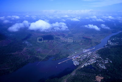 Aerial view of the Panama Canal