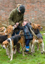 Flip Redman and the Belvoir Hounds at the meet