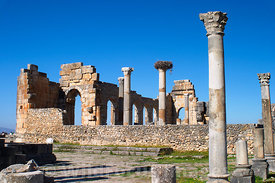 The Basilica, Volubilis, Morocco; Landscape