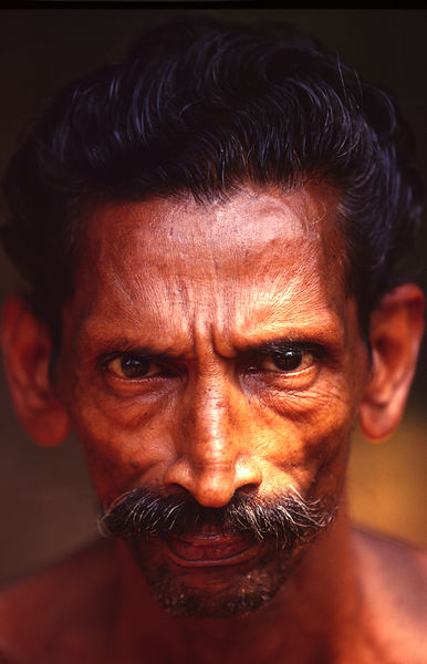 India - Kerala - A Dalit man