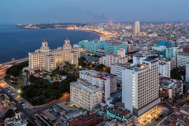 Elevated View of the Skyline of Havana from the FOCSA Building
