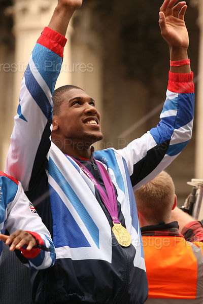 Gold Medal Winner Boxer Anthony Joshua in the London 2012 Victory Parade