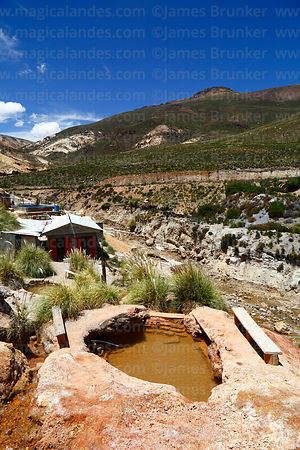 Termas de Jurasi hot springs near Putre, Region XV, Chile
