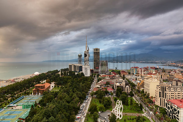 Elevated View of the Batumi Skyline from the Batumi Sheraton