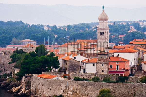 Town of Krk, Krk Island, Kvarner Islands, Croatia