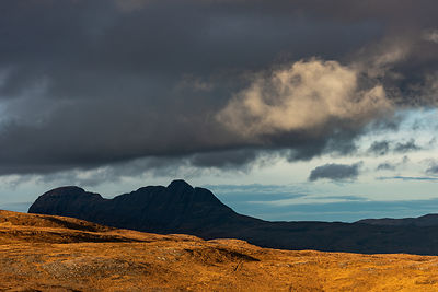 Suilven in cloud shadows
