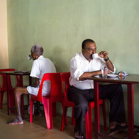 Customers in the Indian Coffee House, Chertala
