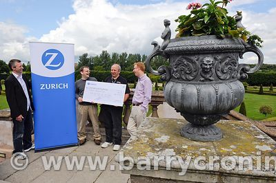 18th June, 2011. Royal Hospital Kilmainham. Making a cheque presentation of €15,000 From Zurich from L to R:  Richard Jordan,...