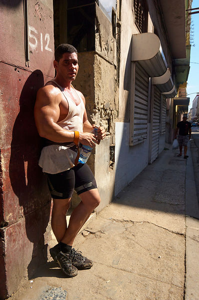 Bodybuilder in Havana