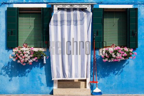 Doorway & Colorful House, Burano, Venice, Italy