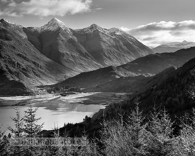 BP2268B_BW - The Five Sisters of Kintail Black and White Print