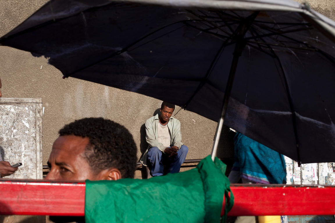 Ethiopia - Addis Ababa - Men on the street