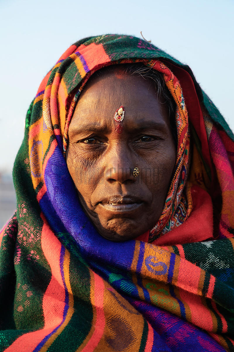 Portrait of a Woman from Bihar