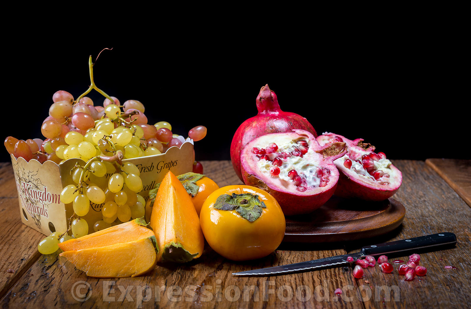 Pomegranates & Grapes