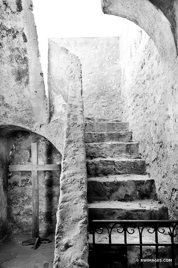 MISSION CONCEPCION SAN ANTONIO TEXAS BLACK AND WHITE